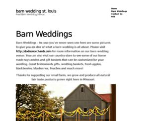 barnweddingstlouis.com screenshot