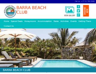 barra-lodge-mozambiquetravel.com screenshot