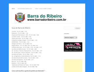 barradoribeiro.com.br screenshot