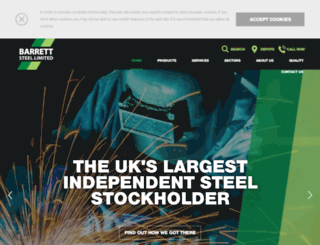 barrettsteel.co.uk screenshot
