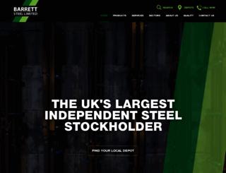 barrettsteel.co.uk screenshot