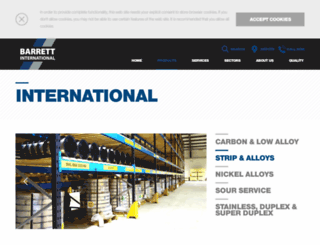 barrettstripandalloys.com screenshot