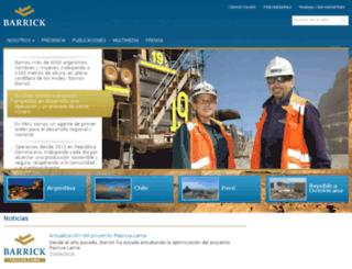 barrickpuebloviejo.com screenshot