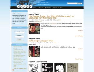 bartersauce.com screenshot