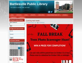 bartlesville.lib.ok.us screenshot