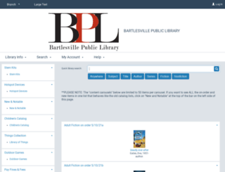 bartlesville.polarislibrary.com screenshot