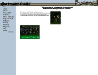 bartmannsholte.de screenshot