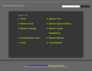 bartonthiel.com screenshot
