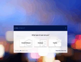 baruch-csm.symplicity.com screenshot