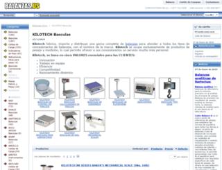 bascula-kilotech.balanzas.us screenshot