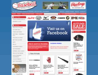 baseballandsoftball.co.uk screenshot
