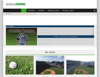 baseballessential.com screenshot