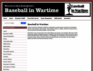 baseballinwartime.com screenshot