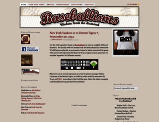 baseballisms.com screenshot