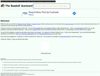 baseballscorecard.com screenshot