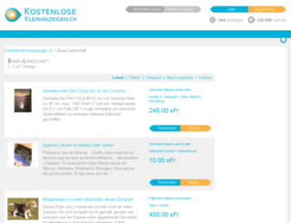 basel-landschaft.kostenlosekleinanzeigen.ch screenshot