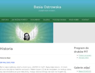 basiaostrowska.pl screenshot