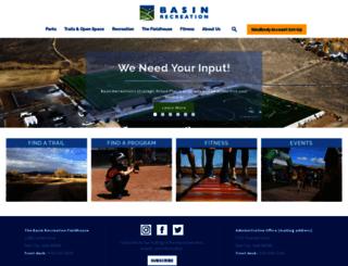 basinrecreation.com screenshot