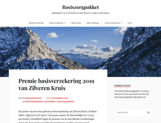 basiszorgpakket.nl screenshot