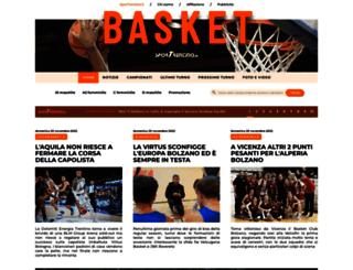 basket.sportrentino.it screenshot
