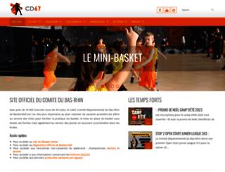 basket67.fr screenshot