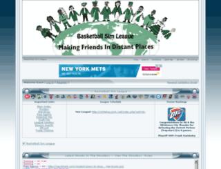 basketballsimleague.jcink.net screenshot