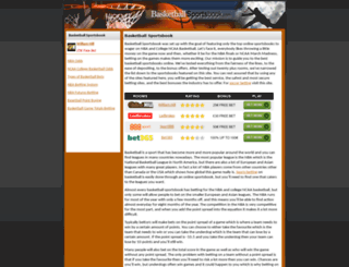 basketballsportsbook.com screenshot