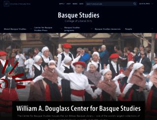 basque.unr.edu screenshot