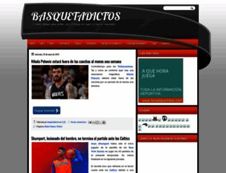 basquetadictos.blogspot.com screenshot