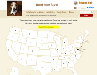 bassethound.rescueme.org screenshot