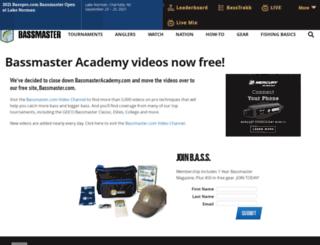 bassmasteracademy.com screenshot