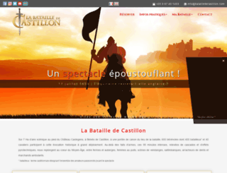 batailledecastillon.com screenshot
