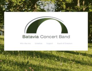 bataviaconcertband.com screenshot