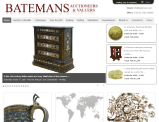 batemans-auctions.co.uk screenshot