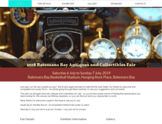 batemansbayantiquesfair.com screenshot