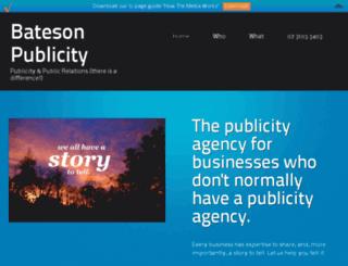 batesonpublicity.com.au screenshot