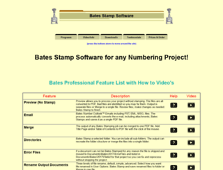 batesstampsoftware.com screenshot