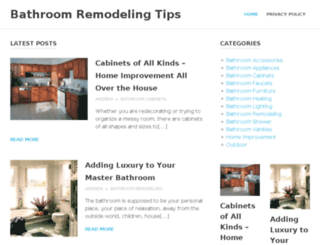 bathroomremodelingtips.net screenshot
