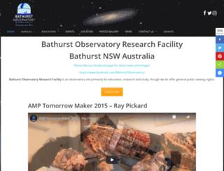 bathurstobservatory.com.au screenshot