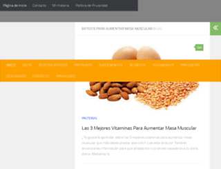 batidosparaaumentarmasamuscular.com screenshot
