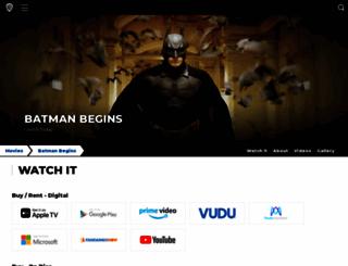 batmanbegins.warnerbros.com screenshot