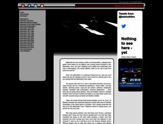 batmobilehistory.com screenshot