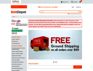 battdepot.com screenshot