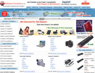 batteries-company.co.uk screenshot