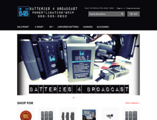batteries4broadcast.com screenshot