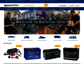 batteriesdirect.com.au screenshot
