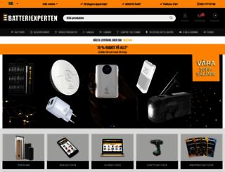 batteriexperten.com screenshot
