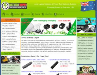 battery-depot.com.au screenshot