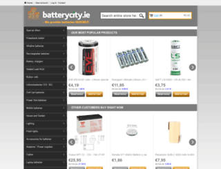 batterycity.ie screenshot