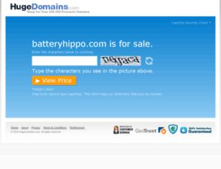 batteryhippo.com screenshot